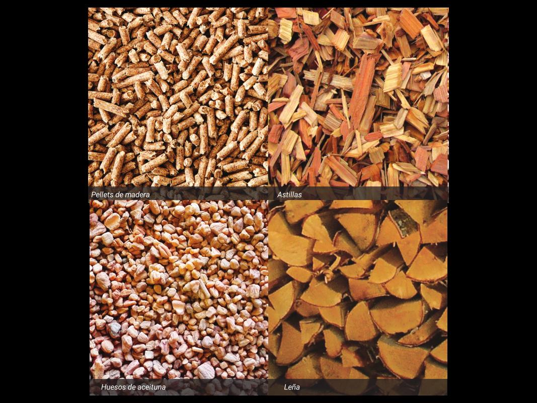 diversi biocarburanti solidi