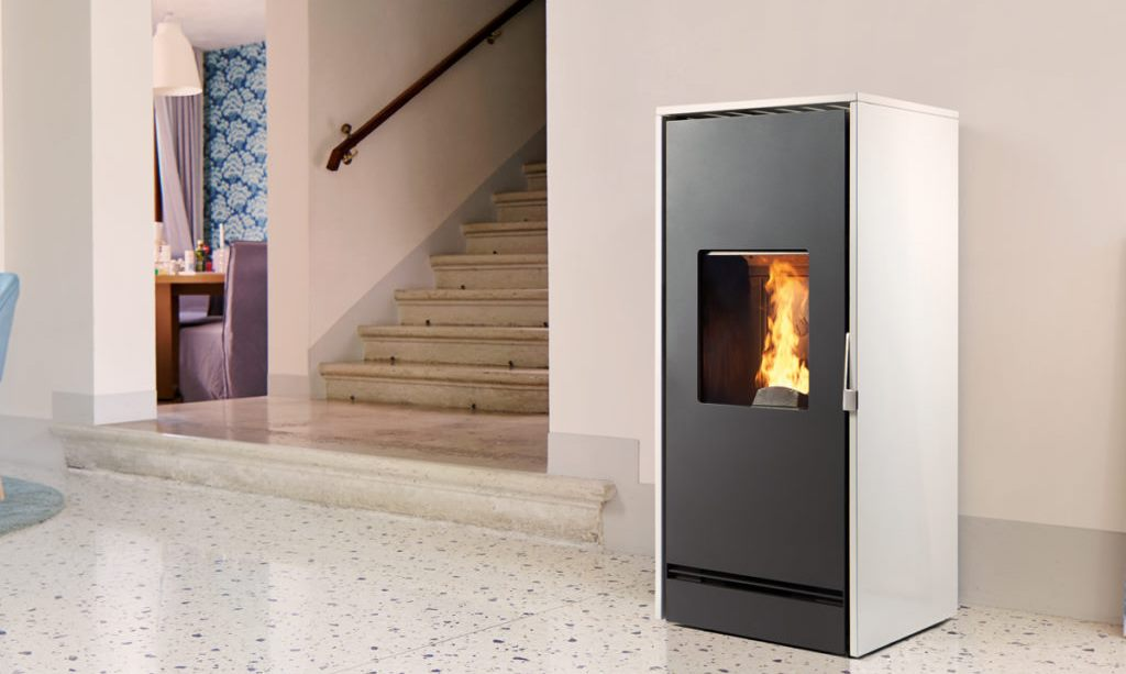piazzeta biomass stove in a home