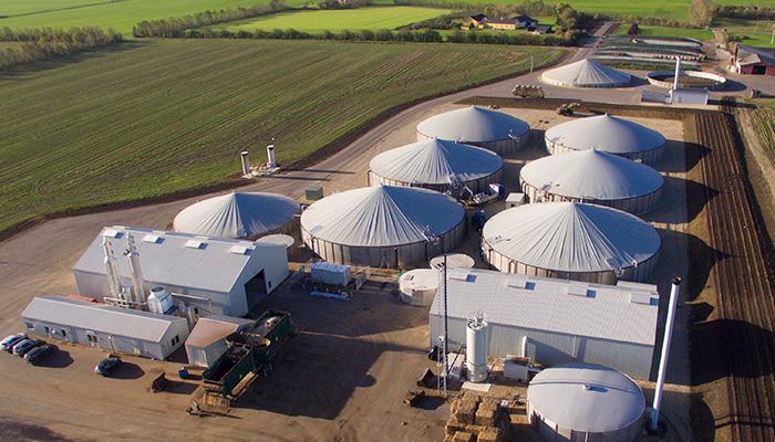 Planta dinamarquesa de biogás
