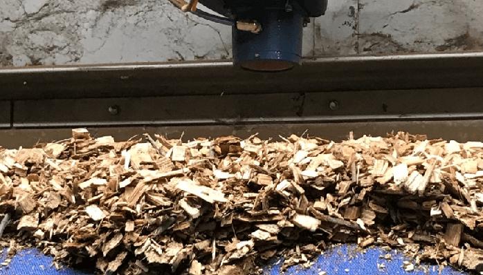Example of biomass moisture reader