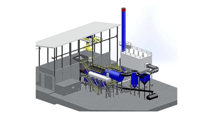 Esquema de projeto de biomassa