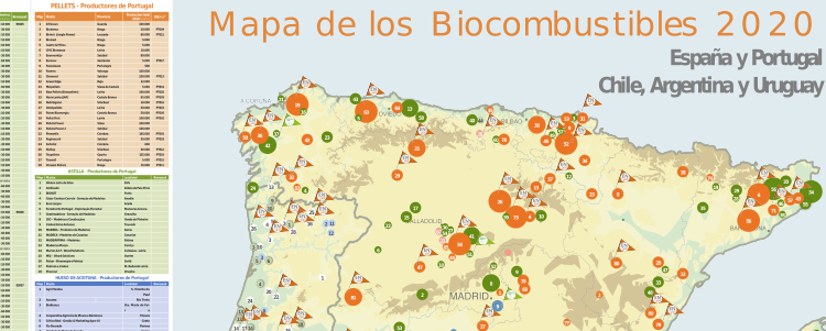 Carte des biocarburants