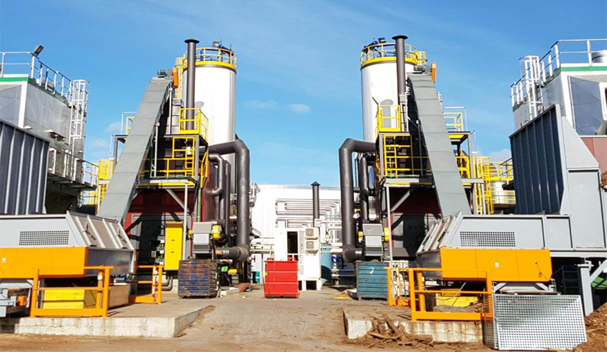 Biomass boiler in wood industry